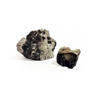 Piedra Blanco-Negro Rayada