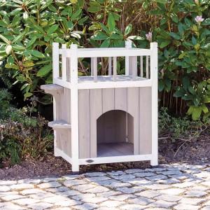 Caseta Exterior con Balcón para Gatos Cat's Home natura - Trixie