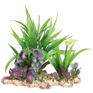 Planta de Plástico con Base de Grava