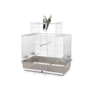 Jaula Pájaros WILMA, Blanco-Gris