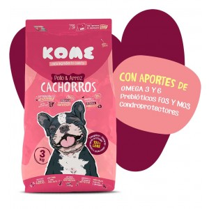 Pienso CACHORROS Pollo y Arroz 3kg - KOME