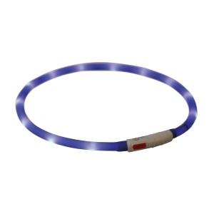 Aro Flash USB, Silicona, XS–XL, 70 cm/ø10 mm, Azul