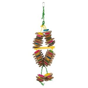 Juguete Madera de Colores con Cuerda de Sisal